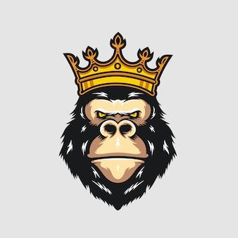Plantilla del logotipo del rey gorilla
