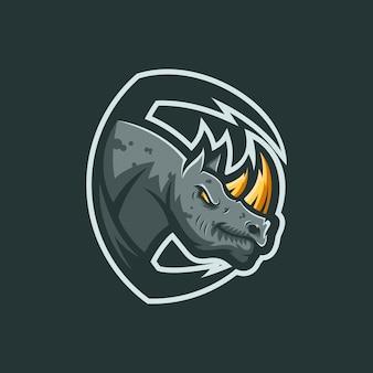Plantilla del logotipo de rhino