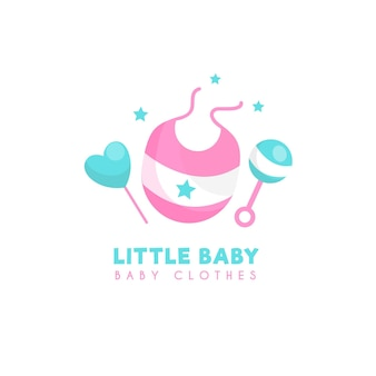 Plantilla de logotipo de ropa de bebé pequeño