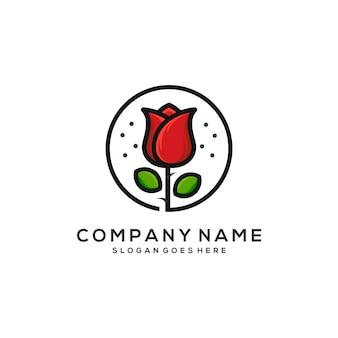 Plantilla de logotipo rosa