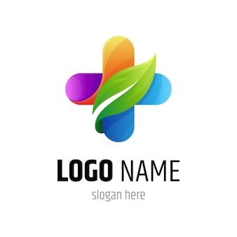 Plantilla de logotipo de salud cruzada médica