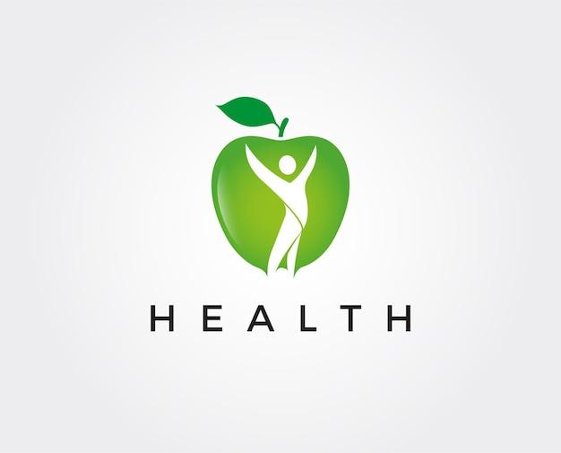 Plantilla de logotipo saludable