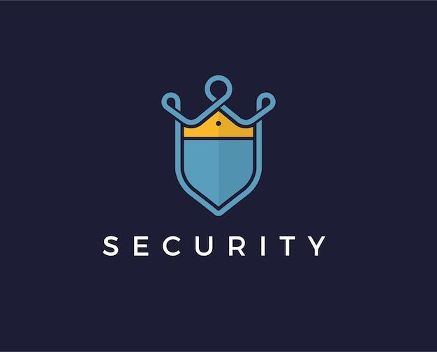 Plantilla de logotipo de seguridad mínima