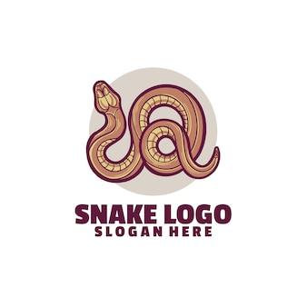 Plantilla de logotipo de serpiente