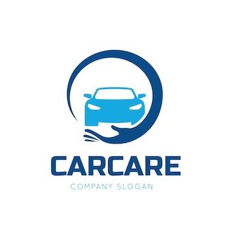 Plantilla de logotipo de servicios de cuidado de automóviles y de autos.
