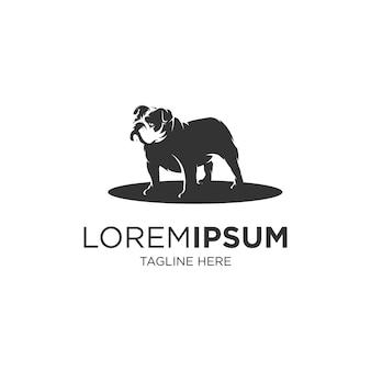 Plantilla de logotipo de silueta de bulldog