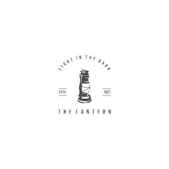Plantilla de logotipo de silueta de linterna