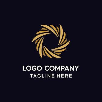 Plantilla de logotipo solar