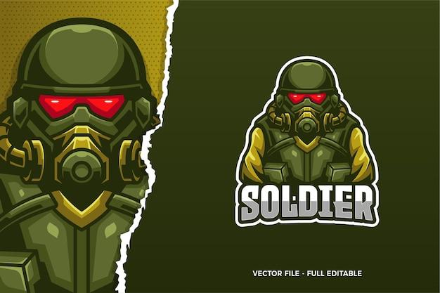 Plantilla de logotipo de soldier e-sport