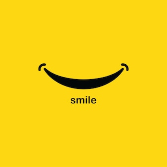 Plantilla de logotipo de sonrisa
