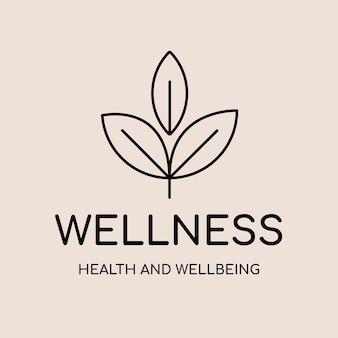 Plantilla de logotipo de spa, vector de diseño de marca de negocios de salud y bienestar, texto de bienestar