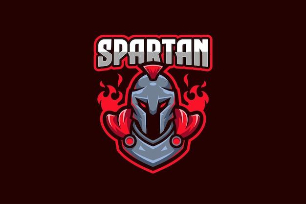 Plantilla de logotipo spartan e-sport
