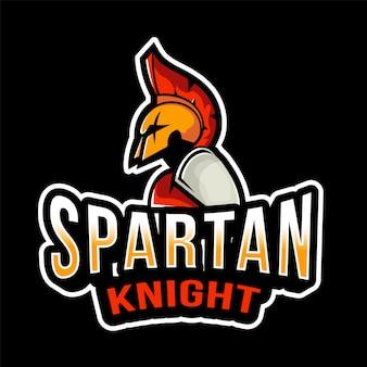 Plantilla de logotipo de spartan knight esport