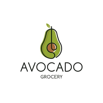 Plantilla de logotipo de supermercado de aguacate