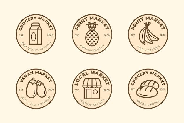 Plantilla de logotipo de supermercado