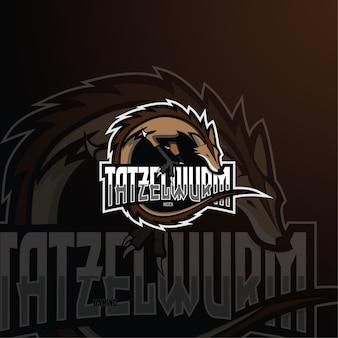 Plantilla de logotipo de tatzelwurm esport