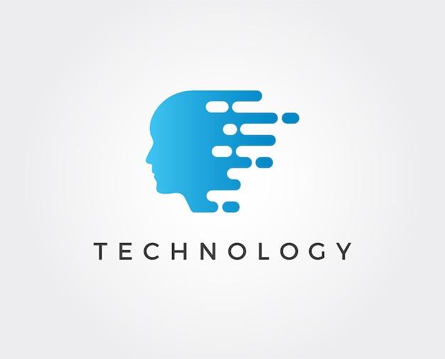 Plantilla de logotipo de tecnología mínima