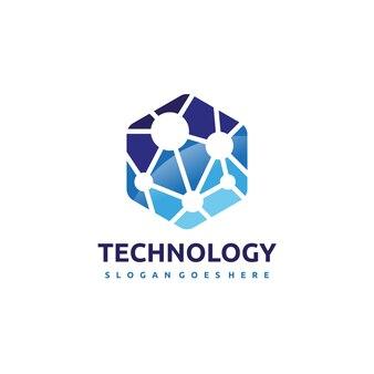 Plantilla de logotipo de tecnología y red