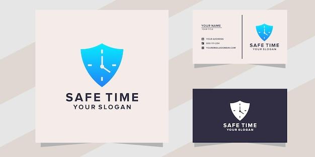 Plantilla de logotipo de tiempo seguro