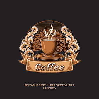 Plantilla de logotipo de tienda de café