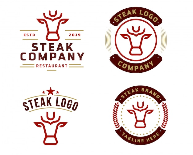 Plantilla de logotipo de tienda de carne
