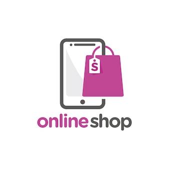 Plantilla de logotipo de tienda en línea