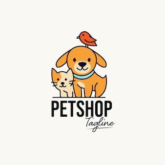 Plantilla de logotipo de tienda de mascotas