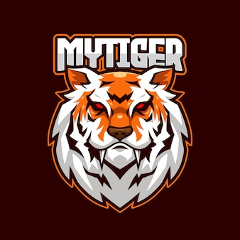 Plantilla de logotipo de tiger e-sports