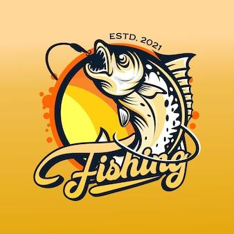 Plantilla de logotipo de torneo de pesca