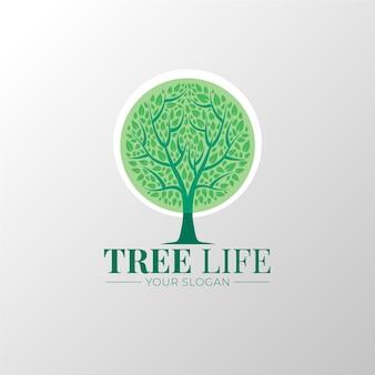 Plantilla de logotipo de tree life