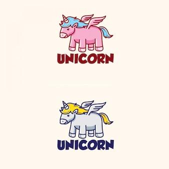 Plantilla de logotipo de unicornio