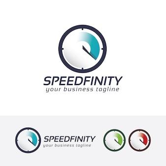 Plantilla de logotipo de vector de infinito velocidad