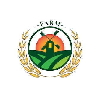 Plantilla de logotipo de vector de jardín de granja 04