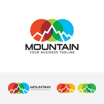 Plantilla de logotipo de vector de montaña