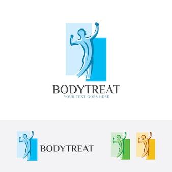 Plantilla de logotipo de vector de tratamiento corporal