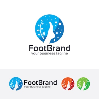 Plantilla de logotipo de vector de tratamiento de pies