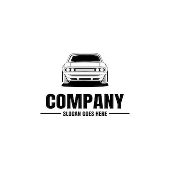 Plantilla de logotipo de vehículo. icono de coche para diseño de negocios. alquiler, reparación, concepto de taller.