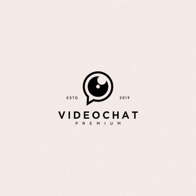 Plantilla de logotipo de video chat