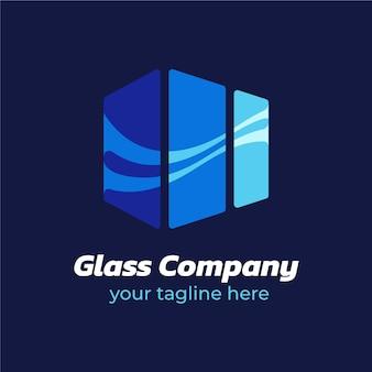 Plantilla de logotipo de vidrio creativo