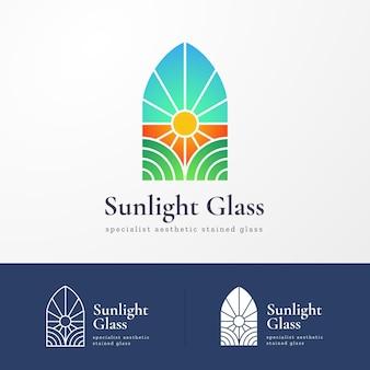 Plantilla de logotipo de vidrio degradado
