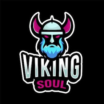 Plantilla de logotipo de viking soul esport