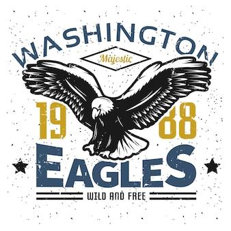 Plantilla de logotipo vintage american eagle