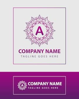 Plantilla de logotipo vintage letra colorida