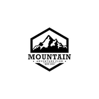 Plantilla de logotipo vintage de montaña