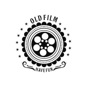 Plantilla de logotipo vintage de película antigua