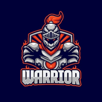 Plantilla de logotipo de warrior e-sports
