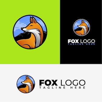 Plantilla de logotipo de zorro moderno y de lujo