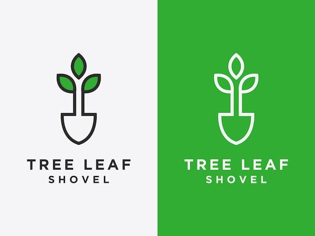 Plantilla los logotipos de hojas simples son diseños vectoriales de estilo lineal