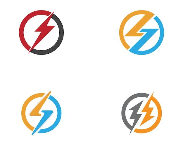 Plantilla de logotipos de poder