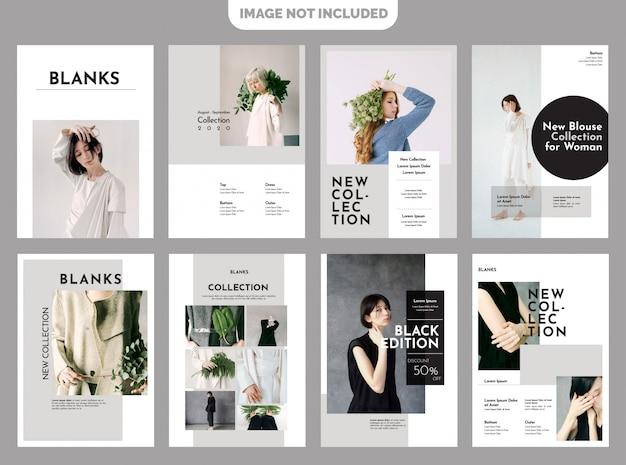 Plantilla de lookbook de moda Vector Premium